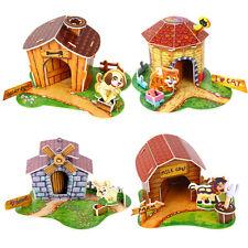 1x 3D papel Puzzle DIY Cartoon PET animal House Jigsaw juguete educativoSE