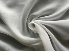 "58"" White Tencel Voile Mercerized Soft Sheer Light Weight Woven Fabric By Yard"