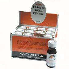 Box 12 Ema Plástico soldar con Autógena Liquid Poliestireno Cemento DIFÍCIL palo