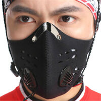 Bike Bicycle Riding Mask Gas Filter Protection Face Head Respirator Anti-Dust JH