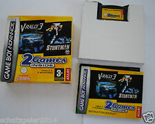 Gameboy Advance SP V-Rally 3 / Stuntman 2 Games inside Komplett