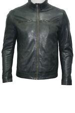 Cappotti e giacche da uomo grigio in pelle