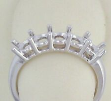 5 STONE RING MOUNTING 14K GOLD FOR 1/4 CT 0.25CT EACH DIAMONDS TOTAL 1.25 CT