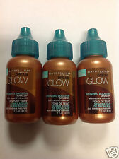 ( LOT OF 3 ) Maybelline Dream Glow Bronzing Booster Makeup 1 Fl. Oz. NEW.