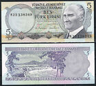 TURQUIA 5 LIRAS AÑO 1970/1976 Pick # 185 SC UNC