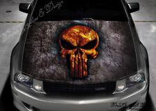 Skull Full Color Graphics Adhesive Vinyl Sticker Fit any Car Hood #040