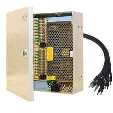 18 Port Power Supply Box Auto-Reset 12V For CCTV Camera