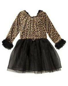 GYMBOREE KITTY LEOPARD HALLOWEEN DRESS COSTUME 3 4 5 6 10 12 NWT