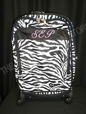 Pottery Barn Teen Zebra Stripe Jet Set Luggage Carry On Suitcase Dorm Bag SEP