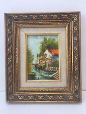 """Ann Kirk Original Oil Painting Landscape, Signed, Framed, 5"""" x 7"""" (Image)"""