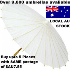 5pcs WHITE PAPER UMBRELLA WEDDING PARTY DIY PAINTING Decor CHINA Dance Sun