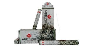 IBCO White Sage Hexa Incense Sticks, 20 Sticks per pack (6 packs) =120 sticks