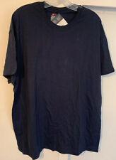 Hanes Men Short Sleeve Crew Neck  T Shirt Navy XL NWT