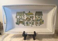 "Figgjo Market Tray Rectangular Baker 13 1/4"" Norway Green Turi Design Handled"