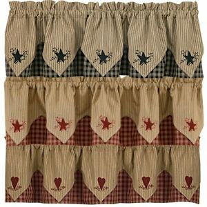 Hearts Country Window Curtains D