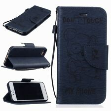Luxury Genuine PU Leather Flip Case Wallet Cover For iPhone 5S 7 / PLUS 6S 6 SE