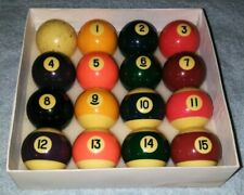 Set of 16 Used Pool Balls full size vintage