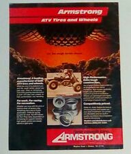 Armstrong ATV tires and wheels 1987 VINTAGE magazine print ad