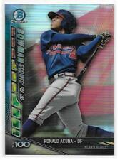 2017 Bowman Chrome RONALD ACUNA Scouts Top 100 PRE ROOKIE INSERT Atlanta Braves