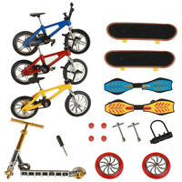18Pcs Mini Finger Toys Set Finger Skateboards Bikes Fingerboard Educational Toys