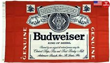 Budweiser King of Beers Flag 3x5 Banner Red 3x5 Feet New Fast Free USA Shipping