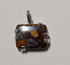 Pendentif argent opale Boulder 12,5 carats - Natural Opal silver pendant
