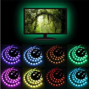 USB TV/PC Monitor Back lighting RGB Backlight LED Light 1 Strips Background Lamp
