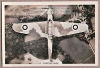 "WWII RAF ""Fairey Battle"" Bomber Airplane Camouflage Painted  1930s Trade Ad Card"