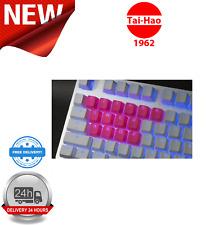 Tai-Hao TPR Rubber Backlit Double Shot 18 Keys Neon Pink KEY0086