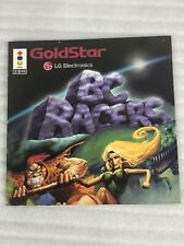 3DO BC RACERS-GOLDSTAR-MANUAL ONLY - NO GAME ! RARE