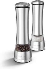 Morphy Richards 974224 Electronic Salt & Pepper Mill Set, S/Steel, Silver