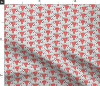 Pink Blood Vagina Period Uterus Ovary Spoonflower Fabric by the Yard
