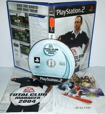 TOTAL CLUB MANAGER 2004 CALCIO - Playstation 2 Ps2 Play Station Gioco Game