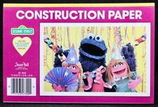 New/Old Stock Stuart Hall Sesame Street 75 Sheet MultiColored Construction Paper