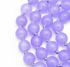 "New 6mm natural purple jade gemstone beads necklace 18"""