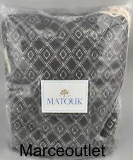 "Matouk Home Albers 50"" x 70"" Cotton Throw Anchor Charcoal"