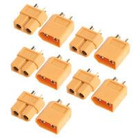 20Pcs 10Pairs XT60 Male & Female Bullet Connectors Plugs for RC Lipo Battery