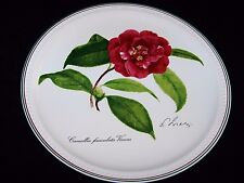 """Villeroy & Boch 2001 New Year Collectible Plate """"Camellia"""" Signed Nicolas Liex"""