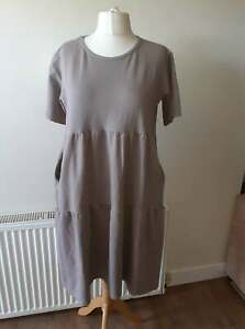 ladies mocca tiered gypsy dress from Blue Vanilla fits 16 18 20/22 NEW