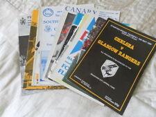 Chelsea Football Pre-Season Fixture Programmes (1980s)