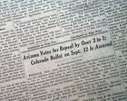 END OF PROHIBITION 18th Amendment Repeal BEER RETURNS in Arizona 1933 Newspaper