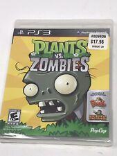 Plants vs. Zombies  (Sony Playstation 3, 2011) PS3 NEW Sealed