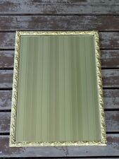 Large Vintage Gold Mid Century Hollywood Regency Ornate Wood Frame Wall Mirror