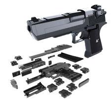 diy building blocks toy gun desert eagle assembly toy puzzle brain game model c