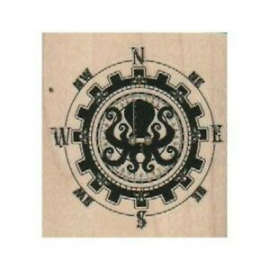 NEW Compass by Brian Kesinger RUBBER STAMP, Compass Stamp, Nautical Stamp, Ocean