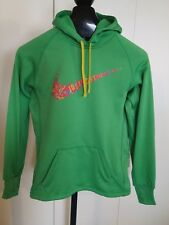 """NIKE THERMA FIT LADIES LS HOODED GREEN PULLOVER ATHLETIC HOODIE-S-""""JUST DO IT"""""""