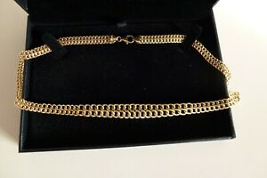 Samuel 9ct Yellow Gold Bonded (Plated) Sterling Silver Graduated Double Chain