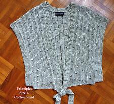 Reduced ! Ladies Cotton Mix /Metallic  Knit Shrug Size L - Principles