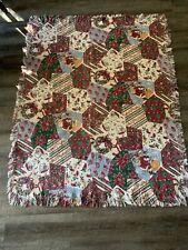 Vintage Woven Christmas Blanket Throw