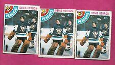 3 X 1978-79 OPC # 172 PENGUINS DENIS HERRON GOALIE  CARD (INV# C1924)